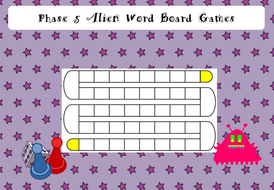 phonics screening phase 5 alien words board game by funkyphonics