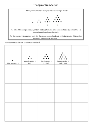 KS2 Triangular Numbers 5 Worksheets + Answers by smithy123 ...