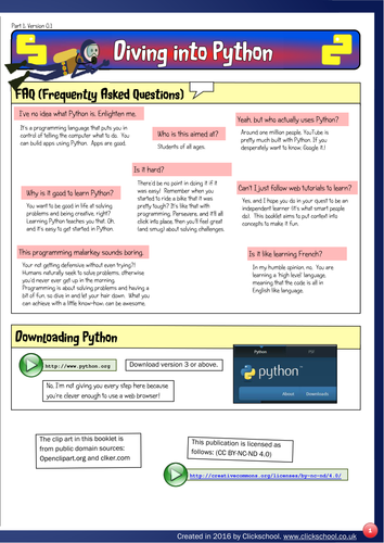 Diving into python fun programming for 11 15 year olds - Dive into python ...