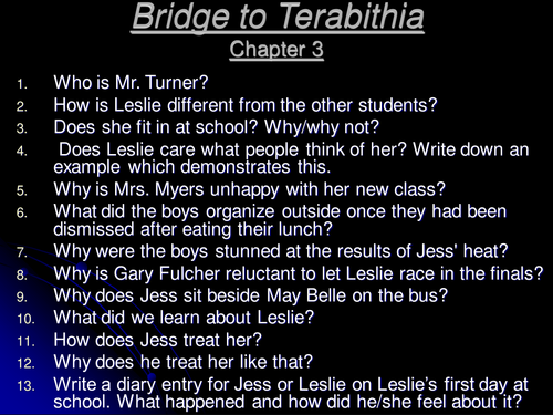 bridge to terabithia essay help
