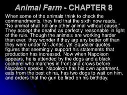 animal farm chapter 8 summary