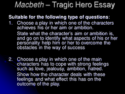 Macbeth By William Shakespeare By Catmbeer  Teaching Resources  Tes  Essaymacbethtragicheroppt