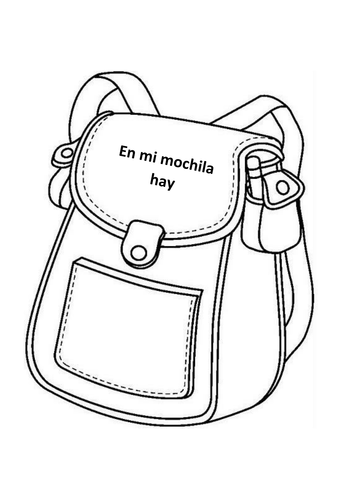 School subjects and 'en mi mochila' worksheet