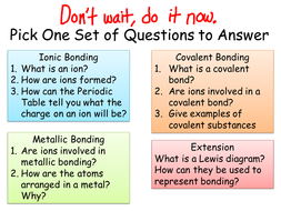 ionic covalent and metallic bonding by meag197 teaching resources tes. Black Bedroom Furniture Sets. Home Design Ideas