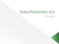 Data Protection Act Lesson By Rhall13