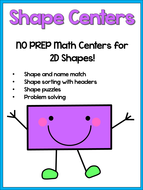 2D Shapes Pack - NO PREP Maths Activities - Early Finishers / Small Group Work!