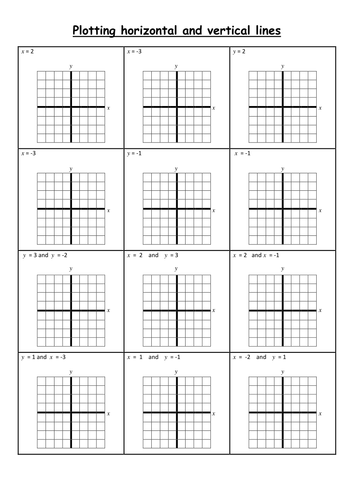 Vertical and Horizontal lines by alisongilroy - Teaching Resources ...
