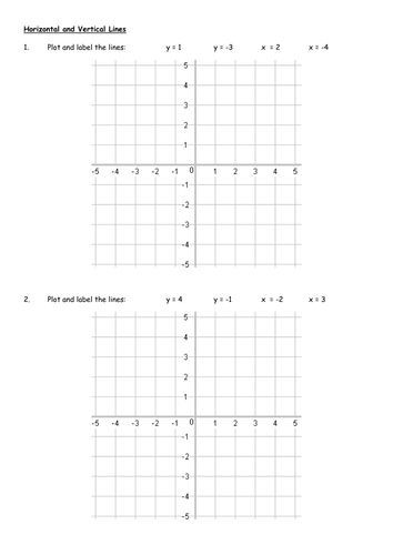 Graphing Vertical And Horizontal Lines Worksheets - Worksheets