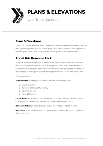 Elevation Lesson Plan : Plans elevations complete unit of work by tomotoole