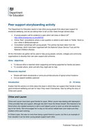 Peer Support session plan
