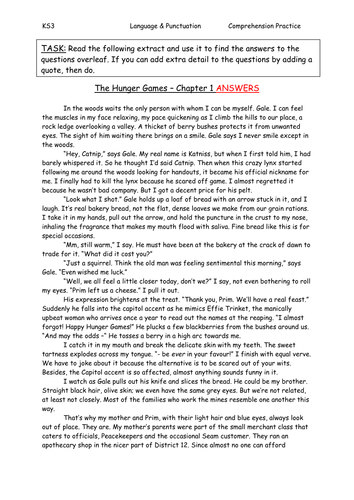 Hunger Games Comprehension Amp Answers By Sazo123 Teaching border=