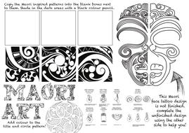 Simple Maori Designs To Draw For Kids