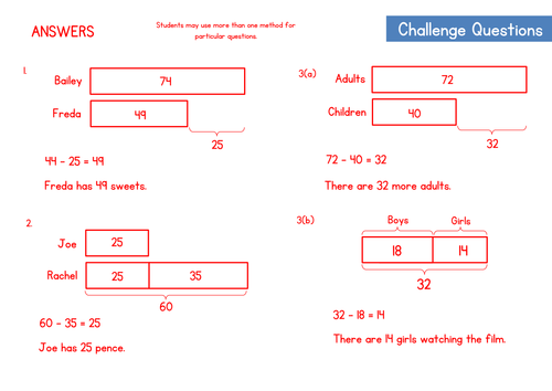 year 3 subtraction questions pdf