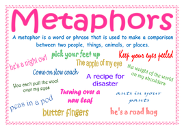 Metaphors definition and examples by lynellie teaching resources.
