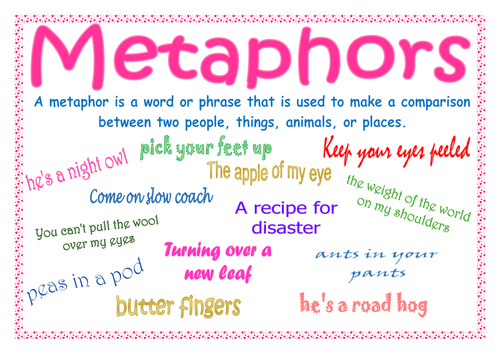 metaphor list with meanings pdf
