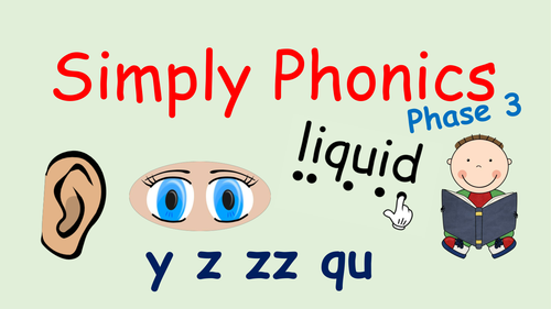 Phase 3 Phonics - Powerpoint to Introduce Set 7 with Blending and Tricky Words