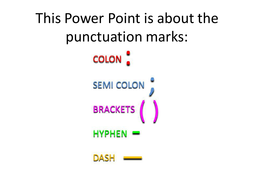 punctuation explained semi colon colon hyphen dash brackets by thrichmond teaching. Black Bedroom Furniture Sets. Home Design Ideas