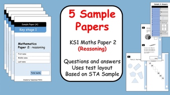 5 sample papers ks1 maths sats paper 2 reasoning questions and