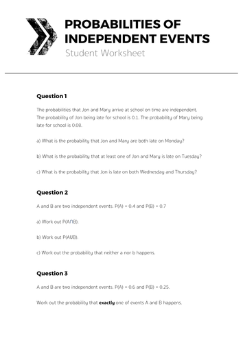 Printables Conditional Probability Worksheet pictures independent events probability worksheet kaessey worksheets for school