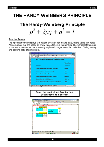 3 7 2 Population Genetics Hardy Weinberg Spreadsheet By