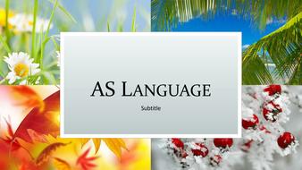AS Language: An Introduction to Mode, Genre, Representation etc