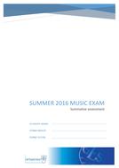 Summative music exam, Music test, baseline test