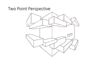 Two point perspective demonstration and teaching resource