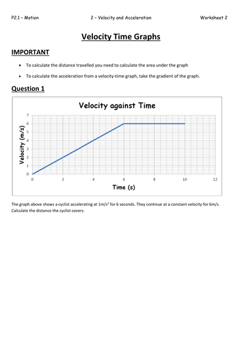 Worksheets Velocity Time Graphs Questions And Answers Pdf p2 1 2 aqa velocity and acceleration by biscuitcrumbs teaching time graphs worksheet pdf