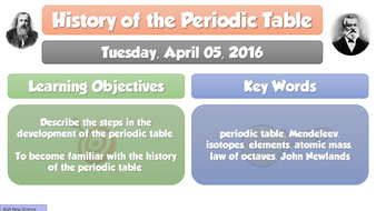 New gcse chemistry 2016 history of periodic table full lesson history of periodic table updatedpptx urtaz Image collections