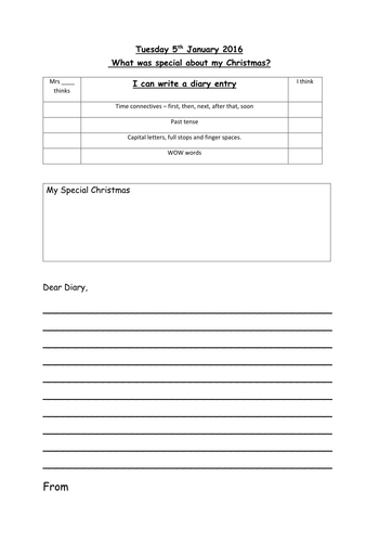image?width=500&height=500&version=1457385759518  Th Grade Diary Entry Format Example on