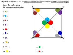 Naming angles using appropriate convention