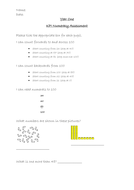 Year One Maths Assessment and Checklist