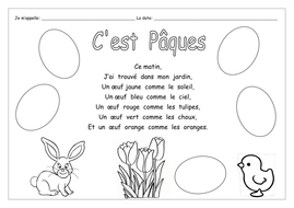 FRENCH - Easter - Joyeuses Pâques Actvity Bumper Pack - Worksheets