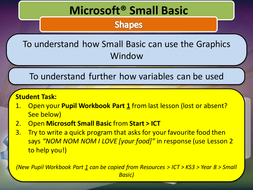 Small basic entire unit resources easy to use by tjra lesson 3 shapespptx ccuart Image collections