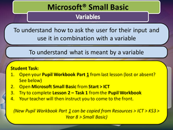 Small basic entire unit resources easy to use by tjra lesson 2 variablespptx ccuart Image collections