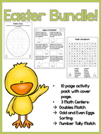 Easter Pack - NO PREP Activity Booklet & 3 Math Early Finisher Tasks.