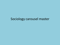 KS3 6 week course for Sociology taster