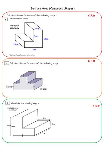 Composite Shapes Surface Area Worksheet - Proga   Info