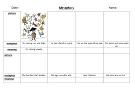 Writing Name Worksheets Metaphors Worksheet By Profseverus  Teaching Resources  Tes Mesopotamia Worksheet Word with Rational Algebraic Expressions Worksheet Word Metaphorpicturesdocx Music Fun Worksheets Word