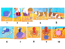 One is a snail ten is a crab - EYFS Reception - Addition / recording maths problems / counting to 20