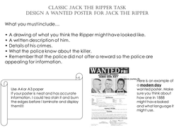 Jack the ripper starter lesson   powerpoint lesson plan.