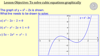 how to solve cubic functions algebraically