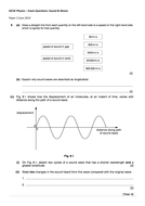 Cambridge iGCSE Physics: SOUND AND WAVES Extension Exam Questions +MS