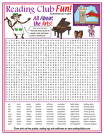 Creating Art (Art-Related Vocabulary) Word Search Puzzle
