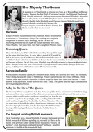 Reading comprehension package - The Queen and the Royal Family