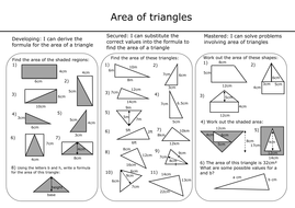Area Of Triangles With Answers By Mcampbell21 Teaching Resources
