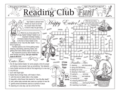 Bundle: Getting Ready for a Happy Easter Two-Page Activity Set and Bunnies Crossword Puzzle