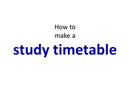Revision - How to study
