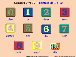 Numbers 0 10 In French Worksheets Games Activities And Flash Cards With Audio Teaching Resources