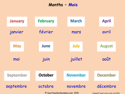 months in french ks2 worksheets activities and flashcards by saveteacherssundays teaching. Black Bedroom Furniture Sets. Home Design Ideas